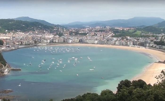 Panorámica de San Sebastián desde el Monte Igueldo