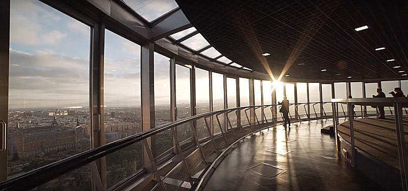 Vistas desde el Faro de Moncloa en Madrid