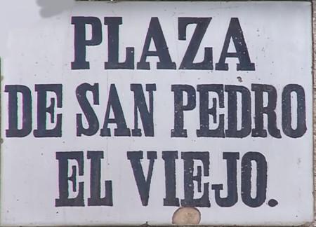 Placa calle Monasterio San Pedro el Viejo en Huesca
