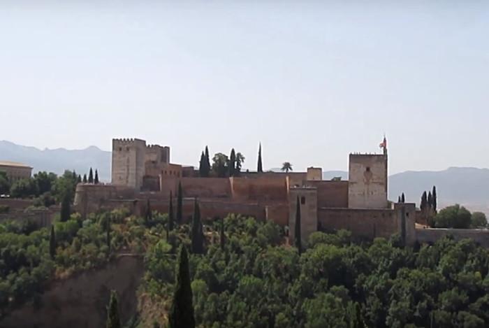 Vistas de La Alhambra desde el Mirador de San Nicolás