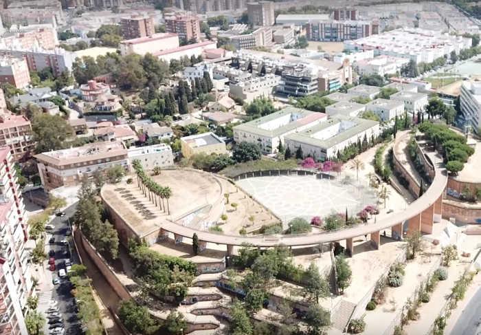 Vista aérea de la ciudad de Huelva